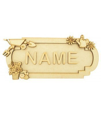 Laser Cut Personalised 3D Fancy Street Sign - Gardening Themed - Size Options